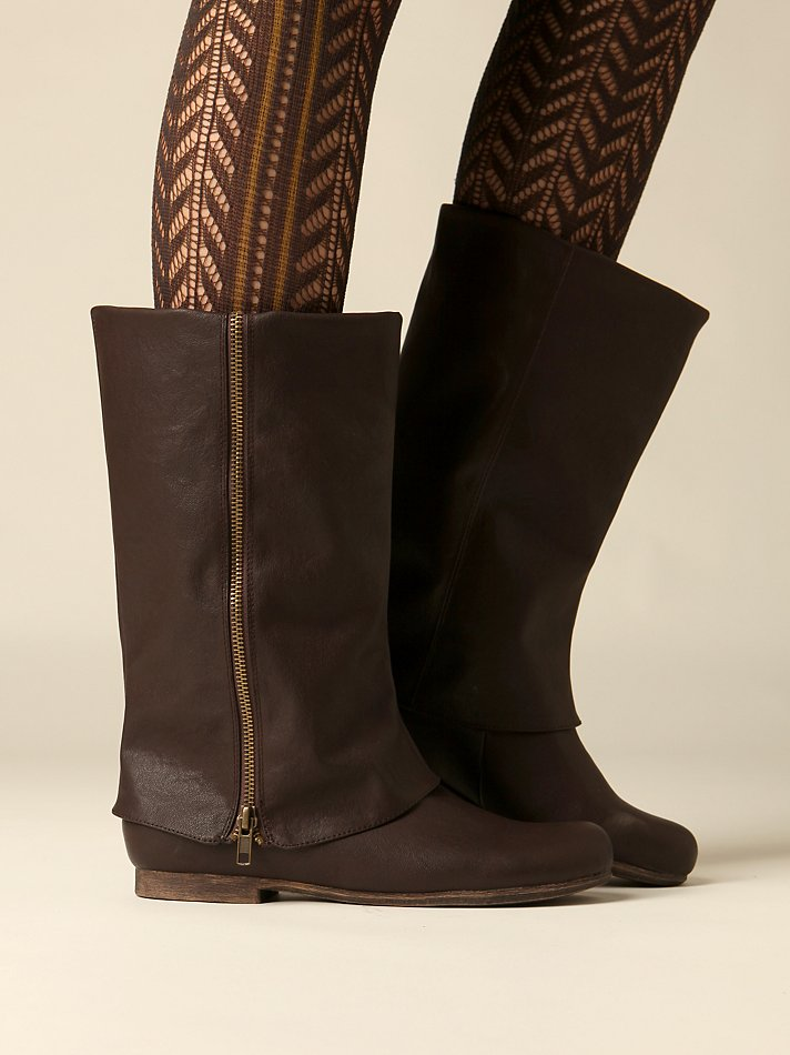 Free People Clothing Boutique > Zip Fold Over Boot :  boot boots zipper boot free people