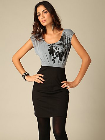 Graphic Cutout Ponte Dress :  ponte dress sexy cutout knit