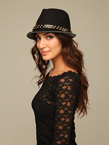 Lolita Stud Hat :  fedora studded hat free people hat
