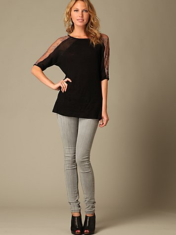 Free People Clothing Boutique > FP Super Skinny Jeans :  pants clothing womens gray