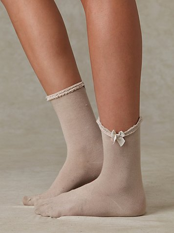 Free People Clothing Boutique > All Dolled Up Slouchy Crew :  socks sock neutral womens
