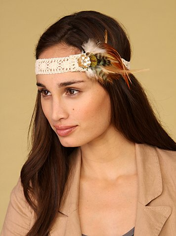 Feather and Gem Headband