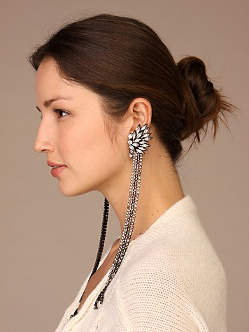 Free People Clothing Boutique > Duchess of Fabulous Long Earring :  earring crystal accessories earrings