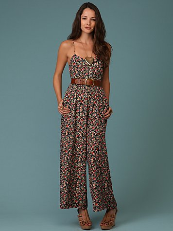 Free People - Lazy Daisy Floral Jumpsuit :  floral free people jumpsuit woven
