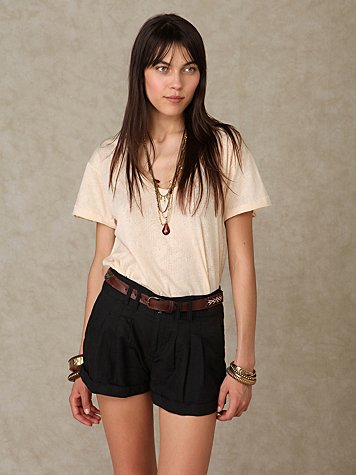 Pleated Linen Short