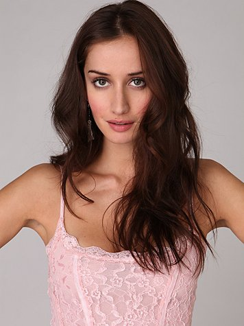 Pucker Up Corset Cami at Free People Clothing Boutique :  cami satin singlet feminine