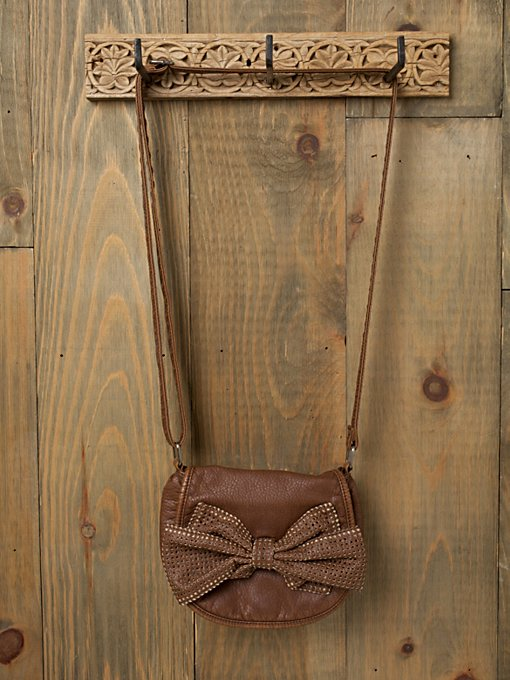 Perforated Bow Crossbody
