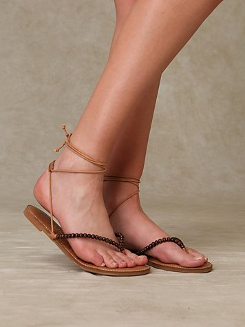 North Beach Wrap Sandal at Free People Clothing Boutique :  cording orange warm colors womens