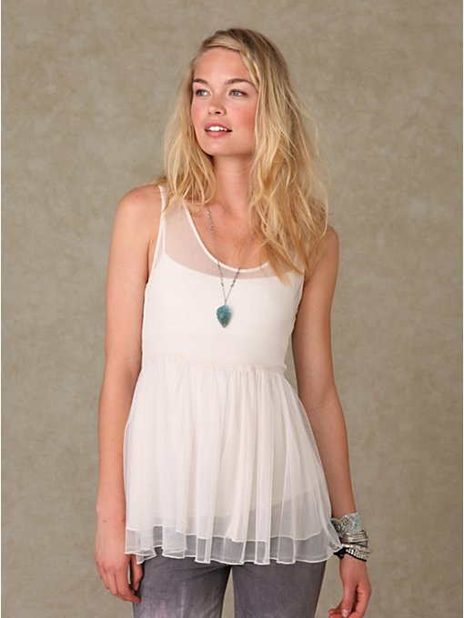 Chiffon And Mesh Slip