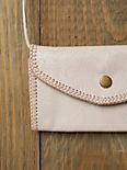 Embossed Leather Crossbody