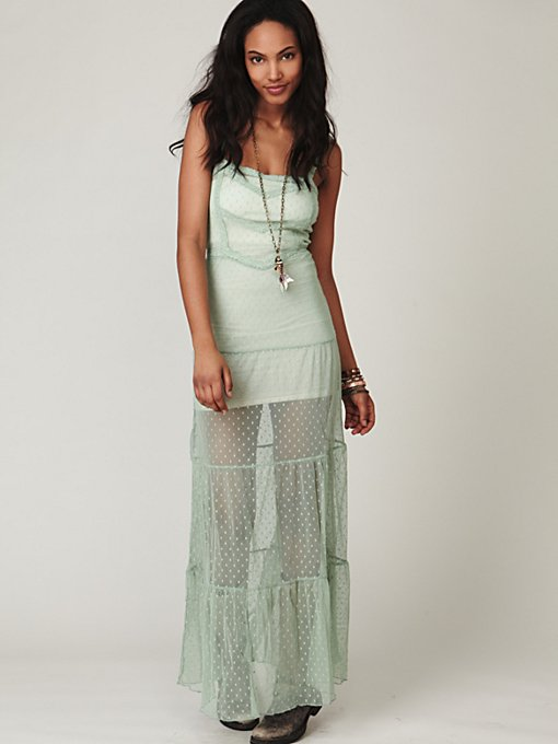 Point D'Esprit Maxi Slip