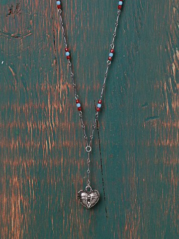 Metal Beaded Rosary Charm