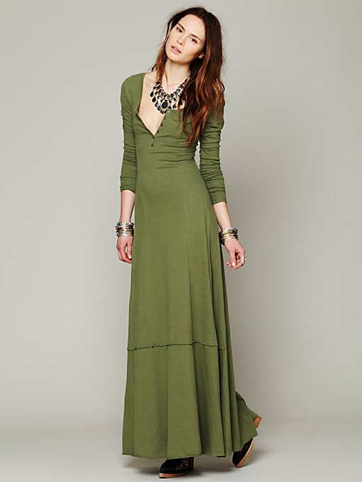 FP Beach Miles of Henley Dress in petite-maxi-dresses