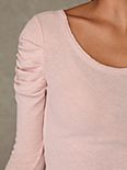 We the Free Solid Puff Sleeve Long Sleeve Top