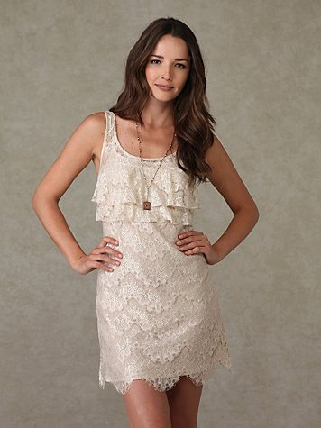 Sleeveless Lace Dress at Free People Clothing Boutique :  lace freepeoplecom sleeveless lace dress dresses
