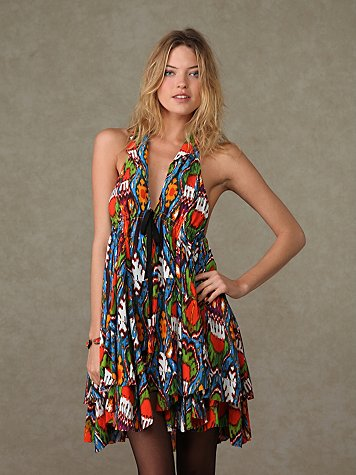 Fp-1 Ikat Halter Dress