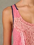 Jafa's Sleeveless Lace Trapeze Top