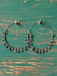 Crystal Cluster Hoops
