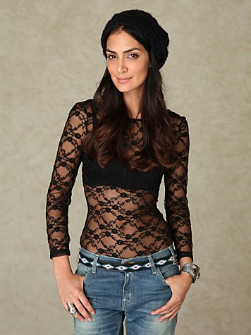 3/4 Scoop Lace Bodysuit