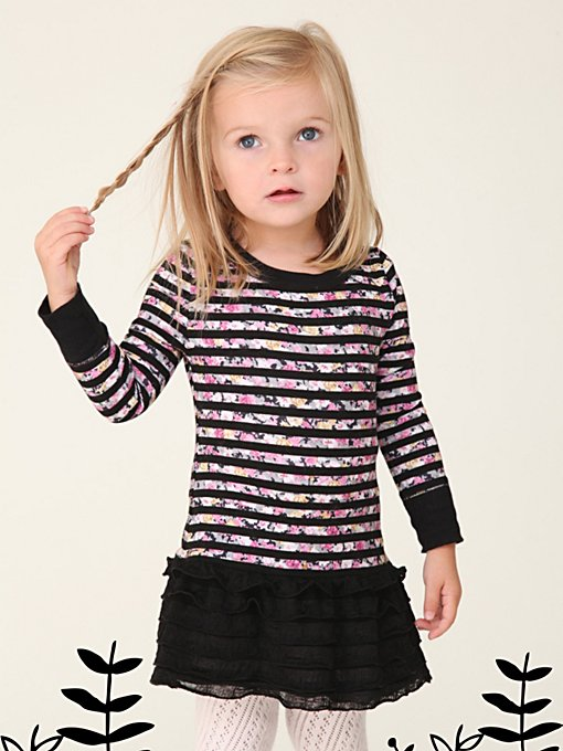 Wee People Starbright Stripe Ruffle Dress