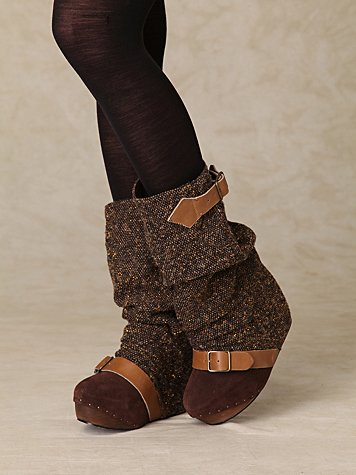 Irregular Choice Longer Lashes Clog Boot