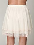 Colorblock Mesh Skirt