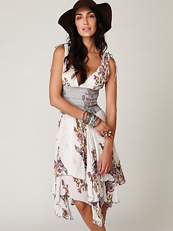 FP-1 Wisteria and Lattice Dress