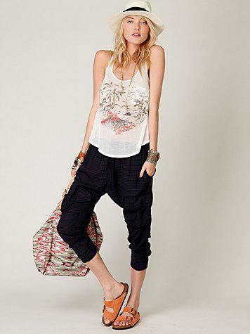 Kasil Parachute Slouch Pant at Free People Clothing Boutique :  pants harem pants kasil bottoms