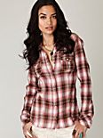 Plaid Snap Buttondown