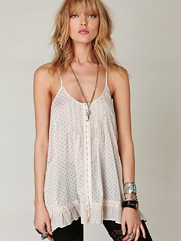 Pintuck Pocket Cami