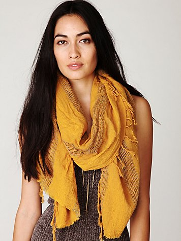 Free People Raggy Desert Scarf