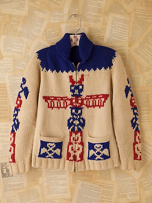 Vintage 1960s Wool Cardigan in Vintage-Tops