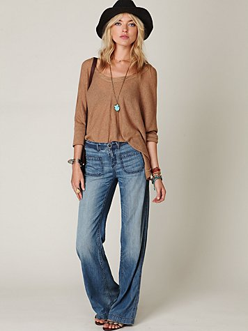 Wideleg Patch Pocket Jean