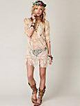 Thatched Fringe Dress