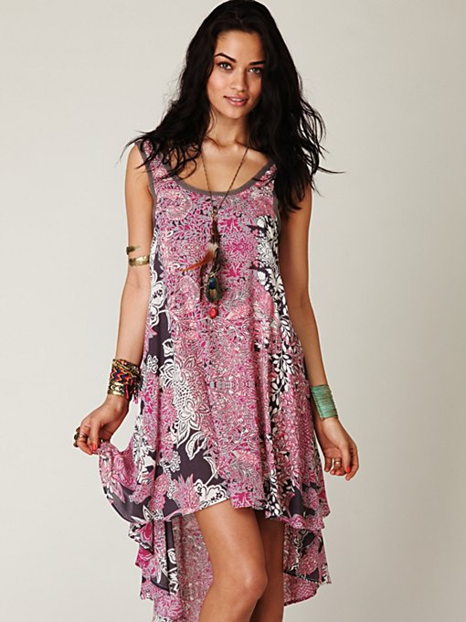 Swing Printed Tank Dress