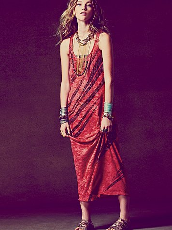 We The Free Feathered Maxi Dress at Free People Clothing Boutique :  dresses maxi we the free apparel