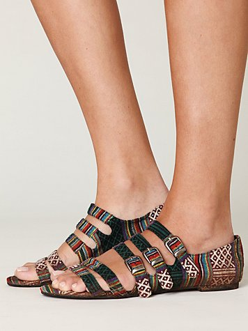 Cayman Fabric Sandal at Free People Clothing Boutique :  jeffrey campbell shoes sandals