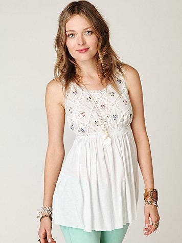 FP New Romantics Lattice Babydoll Top