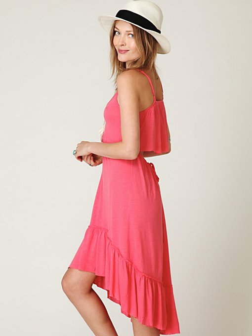 Solid Flutter Back Dress