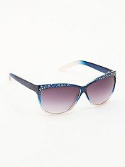 Shimmer Cat Eye Sunglasses
