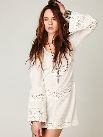 On the V Crochet Tunic