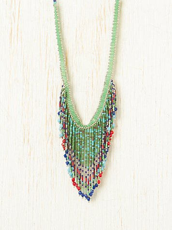 Aztek Seed Bead Necklace at Free People Clothing Boutique :  accessories necklaces jewelry