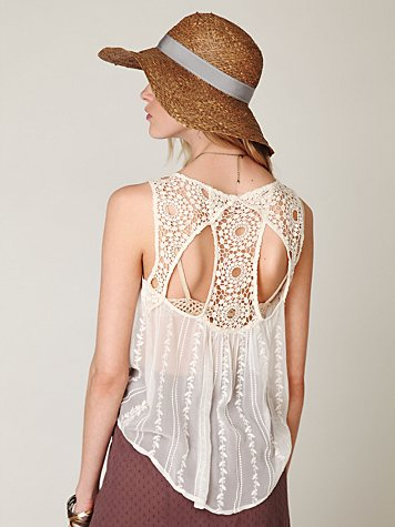 Pammy Sheer Open Back Top