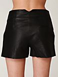 High Waisted Leather Short