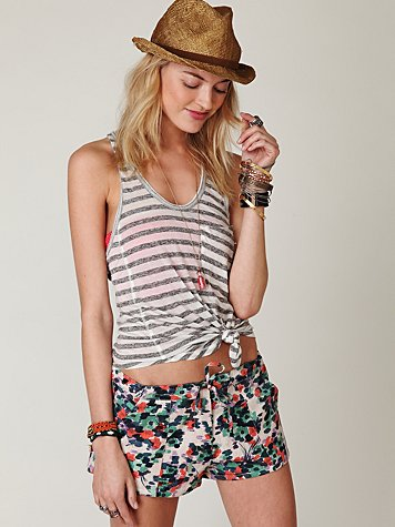 Wren Brush Printed Short at Free People Clothing Boutique :  wren bottoms shorts apparel
