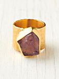 Cratered Amethyst Ring