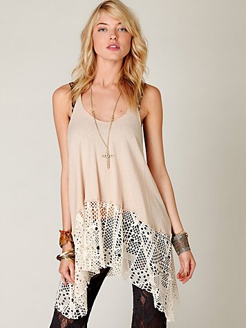 Textured Bottom Trapeze Tank