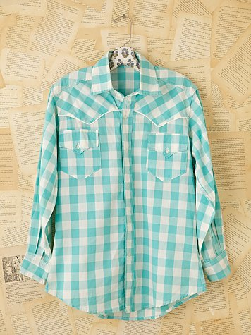 Vintage Plaid Buttondown Shirt at Free People Clothing Boutique :  vintage loves plaid buttondown vintage shirt vintage