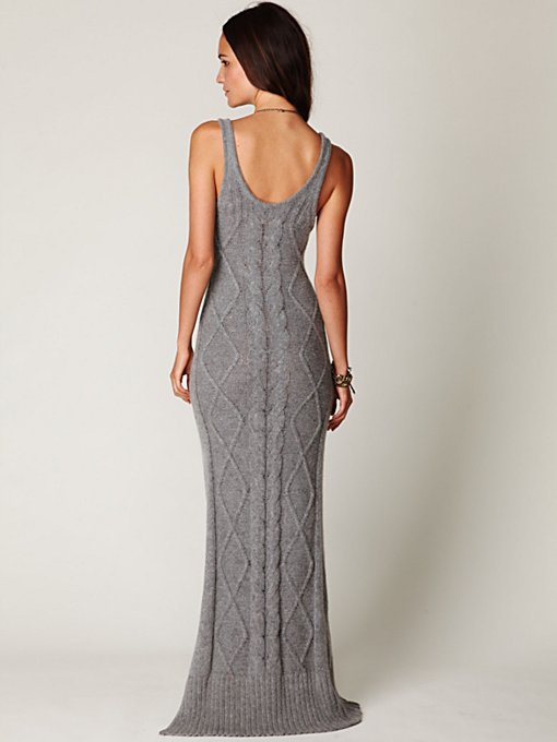 Cable Sweater Maxi Dress