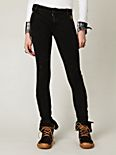 Seamed Knit Skinny Pants with Side Zippers